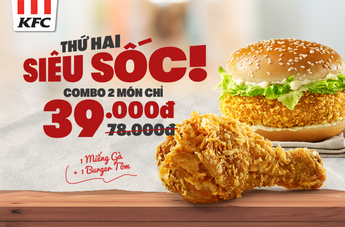 Monday – Combo 2 items only 39K!!!