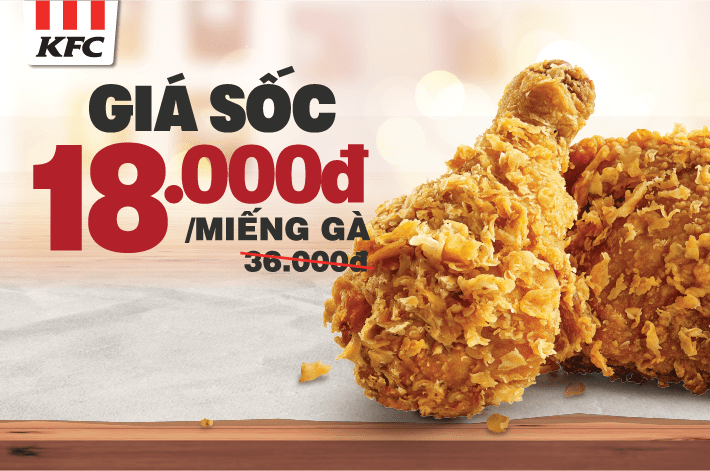 Crazy Price - 18K with KFC!