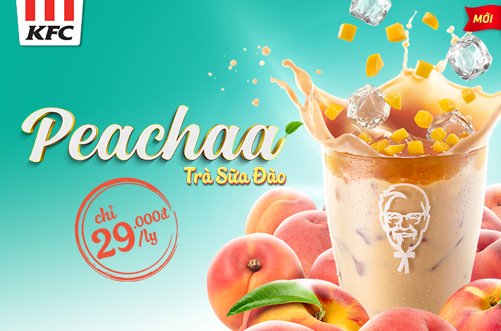 Launching new product PEACHAA – Peach Milk-tea!!!