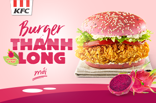 Launching Dragon Fruit Burger At KFC!!!