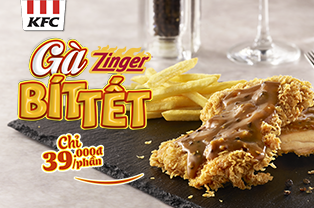 Launching Fried Zinger Steak with Black Pepper Sauce!!!