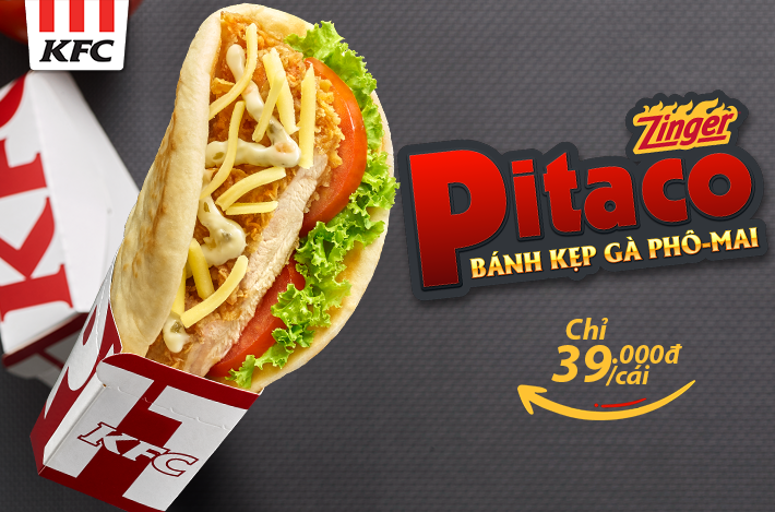 "Launching new product ""PITACO"" from KFC!!!"