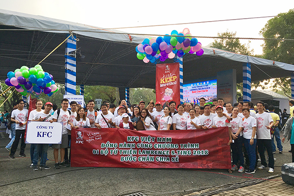 KFC Vietnam sponsored for Lawrence S.Ting Charity 2018