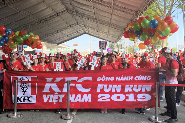 KFC Vietnam sponsored for Fun Run 2019